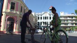 Streetview La Merced church Stock Video Footage