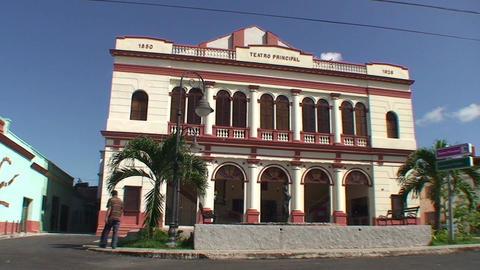 Teatro Principal panshot Stock Video Footage