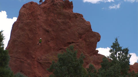 18 Climber Zoom In stock footage