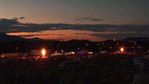 Hot air balloon festival Footage