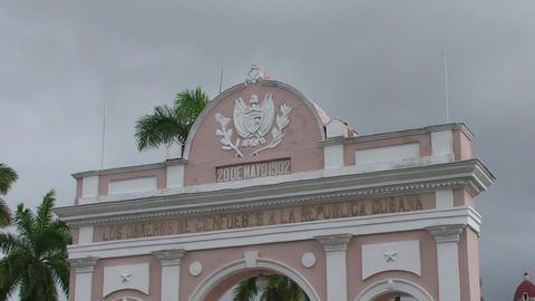 Cienfuegos Arch of Triumph close up Stock Video Footage
