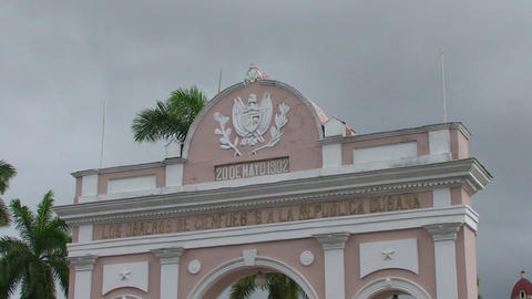 Cienfuegos Arch of Triumph close up Footage