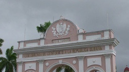 Cienfuegos Arch of Triumph close up Stock Video Footage