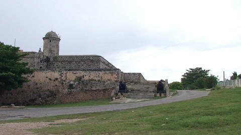 Cienfuegos Castillo de Jagua fortress Stock Video Footage