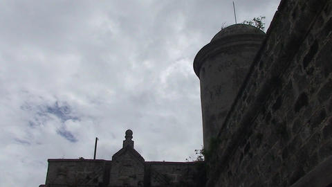 Cienfuegos Castillo de Jagua main gate Stock Video Footage