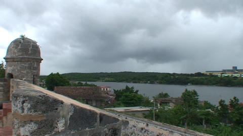 Cienfuegos Castillo de Jagua overview from castle Stock Video Footage