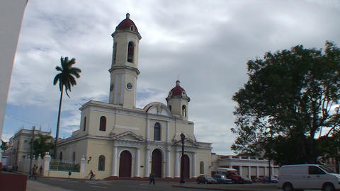 Cienfuegos Catedral de la Purísíma Conceptió Stock Video Footage