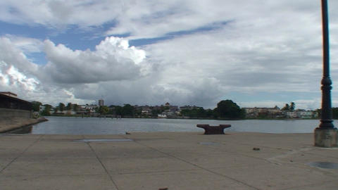 Cienfuegos Harber panshot Stock Video Footage