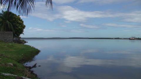 Cienfuegos Harber panshot Stock Video Footage