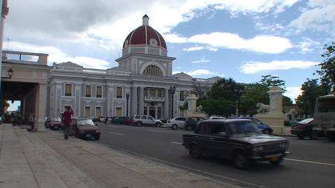 Cienfuegos Museo Provincial Stock Video Footage
