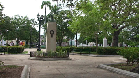 Cienfuegos Park José Martí panshot Stock Video Footage