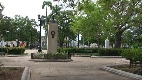 Cienfuegos Park José Martí panshot Stock Video Footage