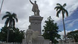 Cienfuegos Statue of José Martí Footage