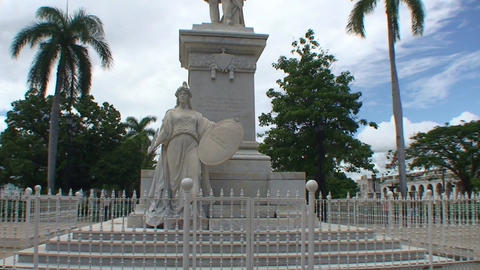 Cienfuegos Statue of José Martí Stock Video Footage