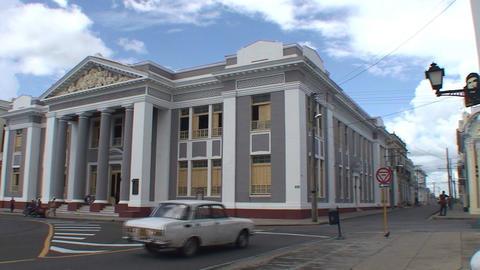 Cienfuegos Teatro Tom ás Terry and Colegio San Lo Stock Video Footage