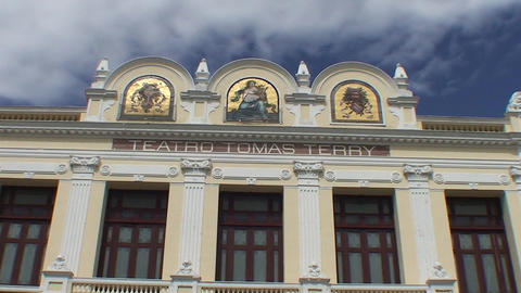 Teatro Tom ás Terry Theater Stock Video Footage