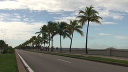 Traffic at the Malecón boulevard Stock Video Footage