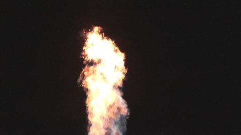 Bursts of fire from hot air balloon burner Stock Video Footage