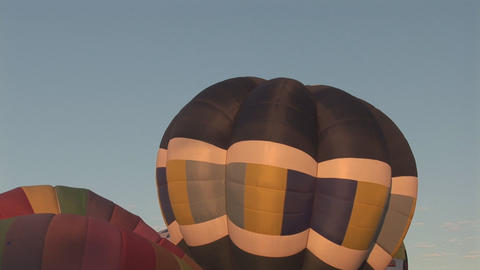 Hot air balloons Stock Video Footage