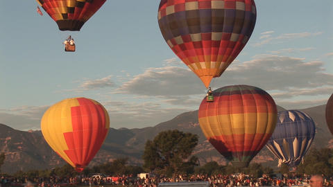 Hot air balloons ascending Footage