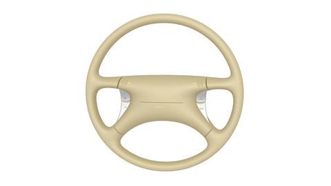 Beige steering wheel Animation