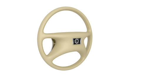 Beige steering wheel Stock Video Footage