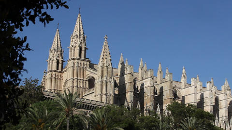 7fy 6View of the Cathedral of Santa Maria of Palma Footage