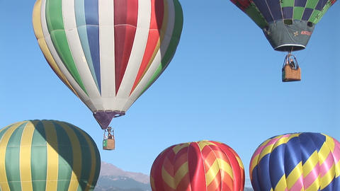 Balloons two lift off Stock Video Footage