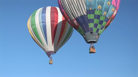 Balloons Two Lift Off stock footage