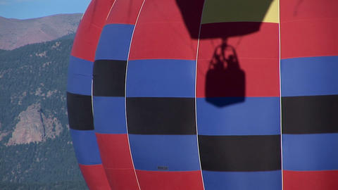 Balloon shadow basket other balloon Stock Video Footage