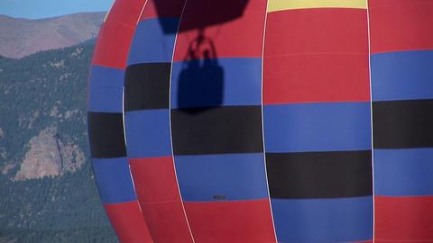 Balloon shadow basket other balloon Stock Video Footage