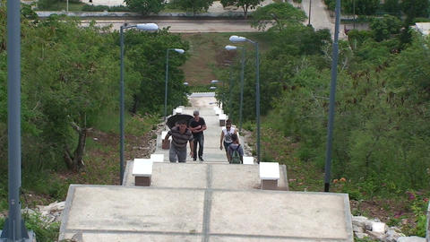 La Loma de la Cruz climbing the stairs Footage