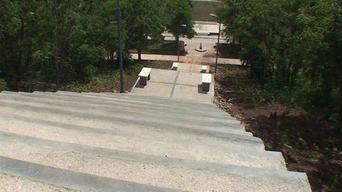 La Loma de la Cruz tilt up overview town Stock Video Footage