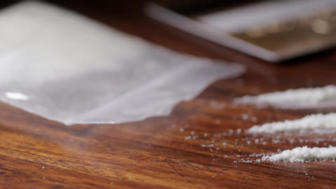 Pan over cocaine Stock Video Footage