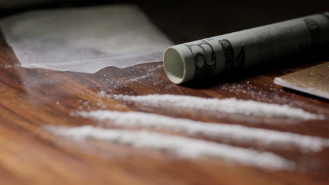 Pan Over Cocaine stock footage