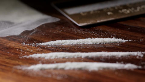Taking cocaine Stock Video Footage