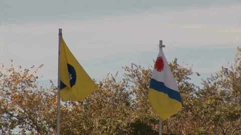 Flag Kalmikya Elista Russia Stock Video Footage