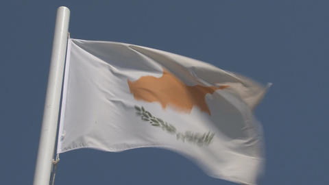 Cyprus flag Stock Video Footage