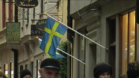 Swedish Flag Footage