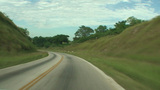 Cuba driving through the landscape Footage