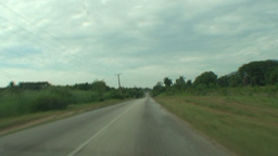 Cuba driving through the landscape Stock Video Footage