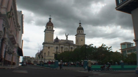 Catedral de Nuestra Senora de la Asunción Stock Video Footage