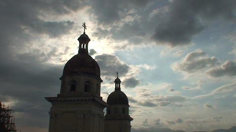 Catedral de Nuestra Senora de la Asunción Stock Video Footage