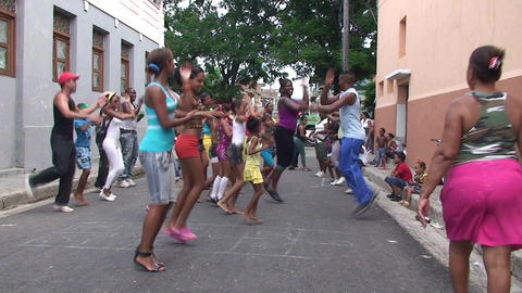 Dancing on the street Stock Video Footage