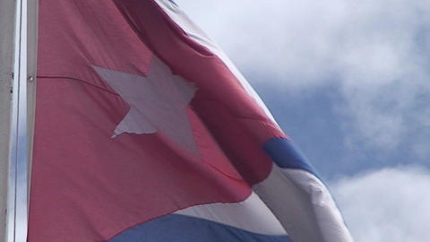 Flag of Cuba, close up Stock Video Footage