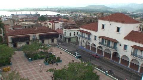 Overview of parque Céspedes Stock Video Footage