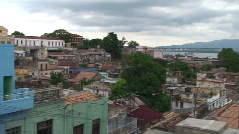 Overview of the City and harber Stock Video Footage