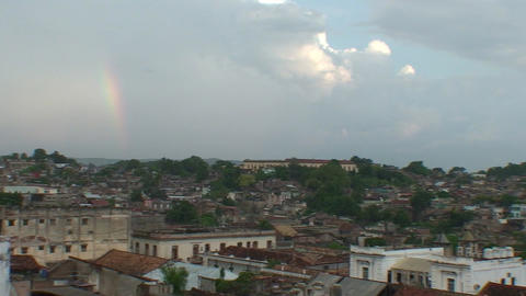 Overview of the City rainbow Stock Video Footage
