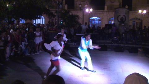 Ruenda de Casino on plaza part 2 Stock Video Footage