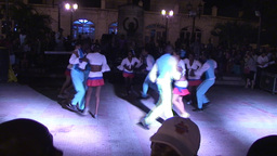 Ruenda de Casino on plaza part 4 Stock Video Footage